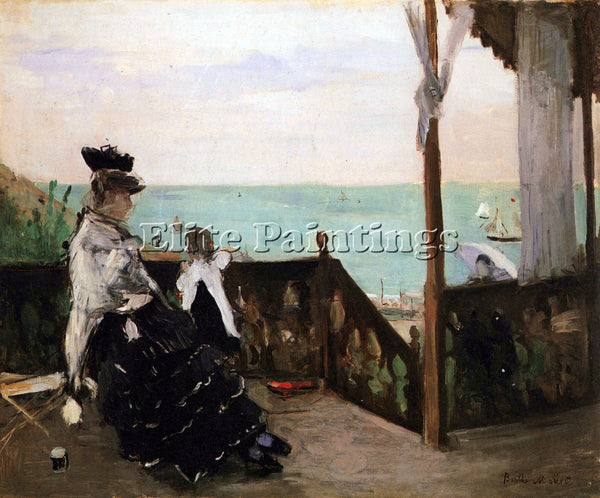 MORISOT IN A VILLA ON THE BEACH ARTIST PAINTING REPRODUCTION HANDMADE OIL CANVAS