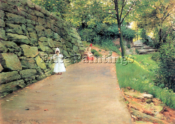 WILLIAM MERRITT CASE IN THE PARK A BYWAY ARTIST PAINTING REPRODUCTION HANDMADE