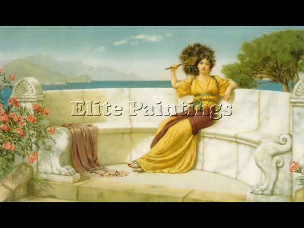 JOHN WILLIAM GODWARD IN THE PRIME OF THE SUMMER TIME 1915 ARTIST PAINTING CANVAS