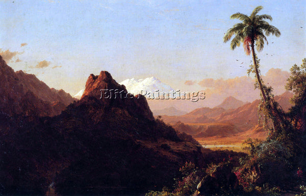 HUDSON RIVER IN THE TROPICS BY FREDERICK EDWIN CHURCH ARTIST PAINTING HANDMADE