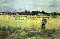 MORISOT IN WHEAT FIELD ARTIST PAINTING REPRODUCTION HANDMADE CANVAS REPRO WALL