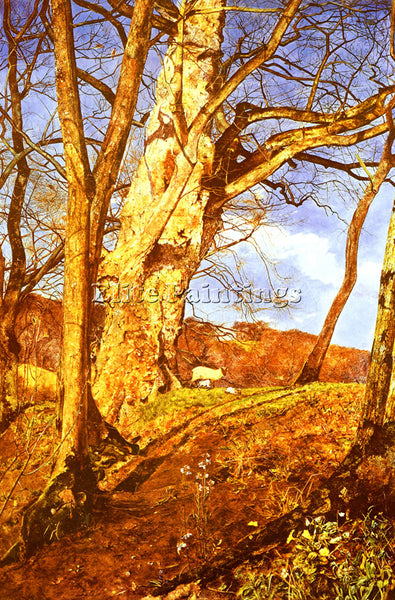 BRITISH INCHBOLD JOHN WILLIAM A STUDY IN MARCH ARTIST PAINTING REPRODUCTION OIL