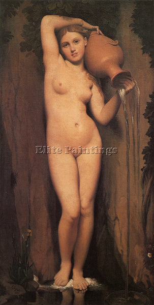 JEAN AUGUSTE DOMINIQUE INGRES LA SOURCE ARTIST PAINTING REPRODUCTION HANDMADE