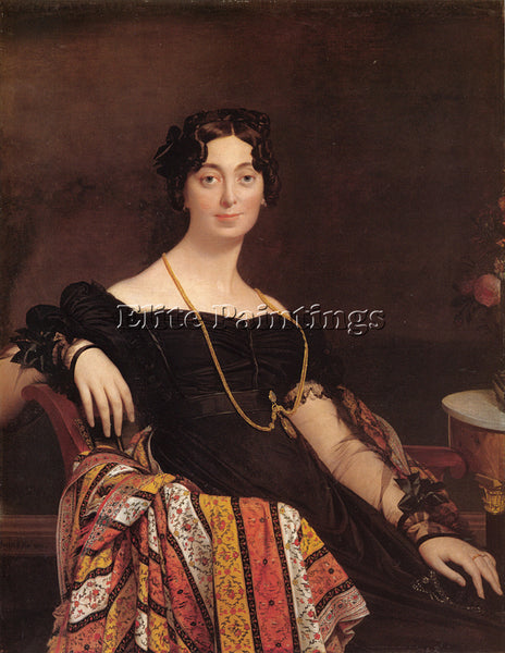 JEAN-AUGUSTE DOMINIQUE INGRES MADAME JACQUES LOUIS LEBLANC ARTIST PAINTING REPRO