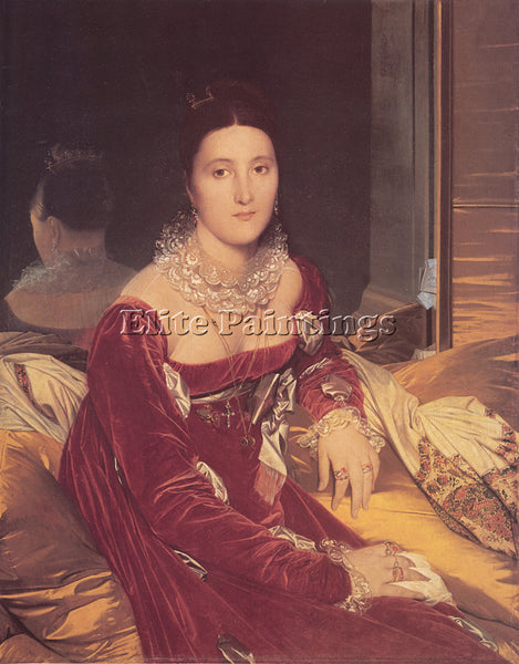 JEAN-AUGUSTE DOMINIQUE INGRES MADAME DE SENONNES ARTIST PAINTING HANDMADE CANVAS