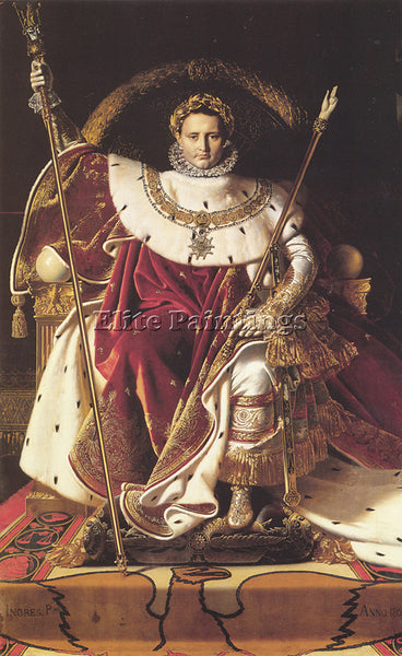 JEAN-AUGUSTE DOMINIQUE INGRES NAPOLEON I ON HIS IMPERIAL THRONE ARTIST PAINTING