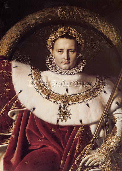 JEAN AUGUSTE DOMINIQUE INGRES NAPOLEON I ON HIS IMPERIAL THRONE DETAIL PAINTING