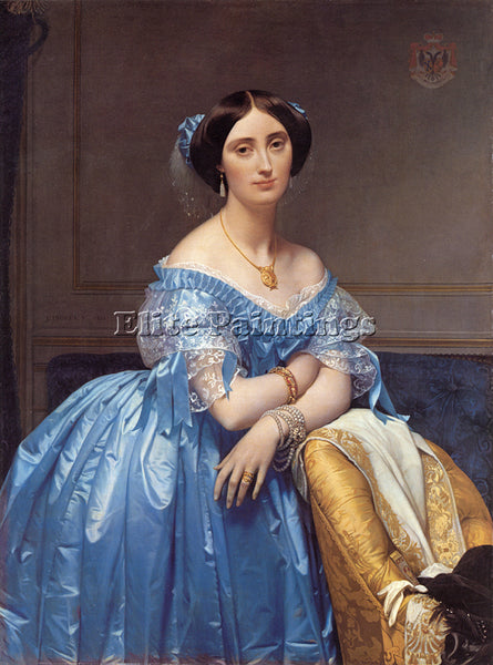 JEAN AUGUSTE DOMINIQUE INGRES PRINCESS ALBERT DE BROGLIE ARTIST PAINTING CANVAS