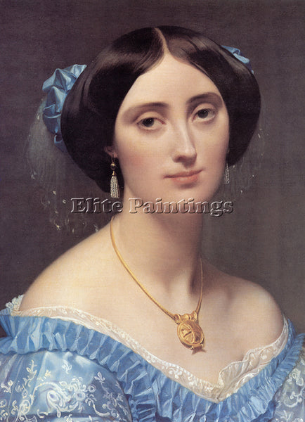 JEAN AUGUSTE DOMINIQUE INGRES PRINCESS ALBERT DE BROGLIE DETAIL ARTIST PAINTING