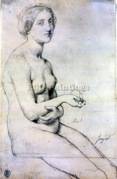 JEAN AUGUSTE DOMINIQUE INGRES STUDY FOR VENUS A PAPHOS ARTIST PAINTING HANDMADE