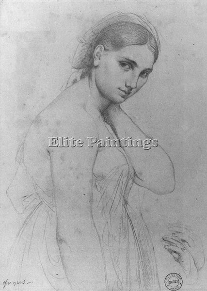 JEAN AUGUSTE DOMINIQUE INGRES STUDY FOR RAPHAEL AND THE FORNARINA ARTIST CANVAS