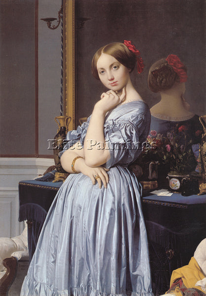JEAN AUGUSTE DOMINIQUE INGRES VICOMTESSE OTHENIN D HAUSSONVILLE ARTIST PAINTING