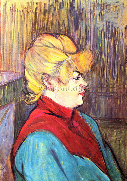 TOULOUSE-LAUTREC INHABITANT OF THE HOUSE OF JOYS ARTIST PAINTING HANDMADE CANVAS