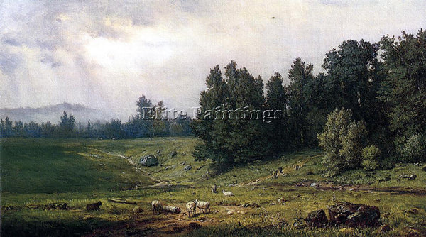 GEORGE INNESS LANDSCAPE WITH SHEEP ARTIST PAINTING REPRODUCTION HANDMADE OIL ART