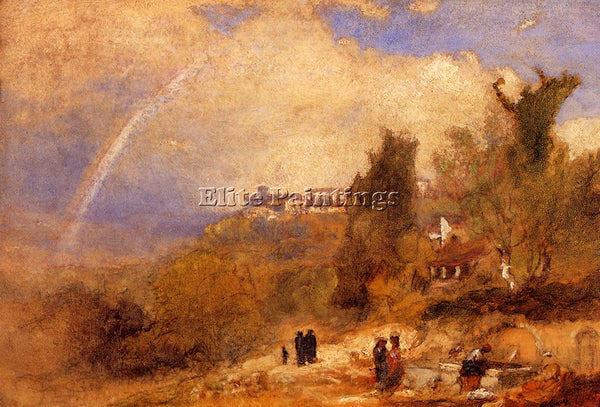 GEORGE INNESS NEAR PERUGIA ARTIST PAINTING REPRODUCTION HANDMADE OIL CANVAS DECO