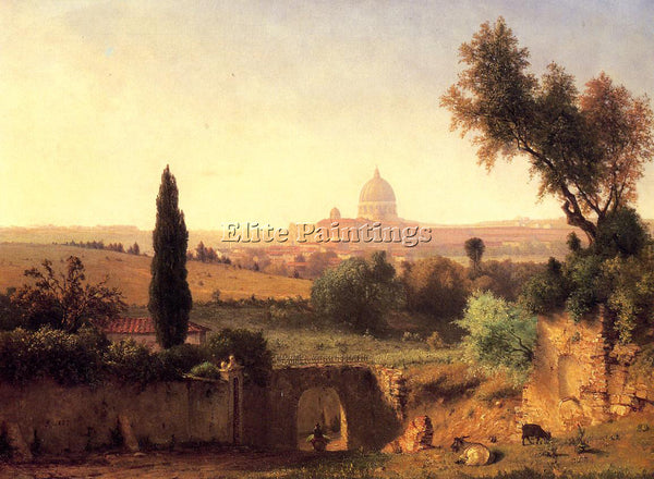 GEORGE INNESS ST PETER S ROME ARTIST PAINTING REPRODUCTION HANDMADE CANVAS REPRO