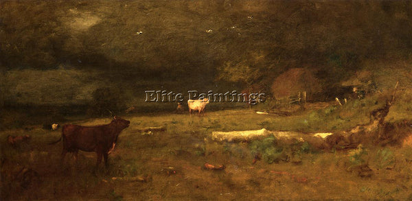 GEORGE INNESS THE COMING STORM AKA APPROACHING STORM ARTIST PAINTING HANDMADE
