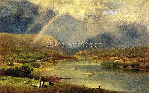 GEORGE INNESS THE DELEWARE WATER GAP ARTIST PAINTING REPRODUCTION HANDMADE OIL