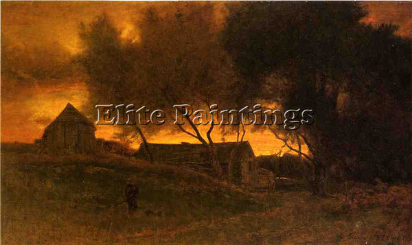GEORGE INNESS THE GLOAMING ARTIST PAINTING REPRODUCTION HANDMADE OIL CANVAS DECO