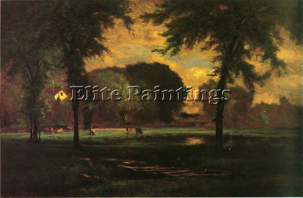 GEORGE INNESS THE PASTURE ARTIST PAINTING REPRODUCTION HANDMADE OIL CANVAS REPRO