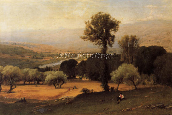 GEORGE INNESS THE PERUGIAN VALLEY ARTIST PAINTING REPRODUCTION HANDMADE OIL DECO