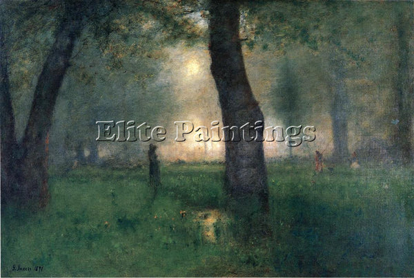 GEORGE INNESS THE TROUT BROOK ARTIST PAINTING REPRODUCTION HANDMADE CANVAS REPRO