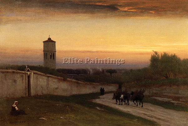 GEORGE INNESS TWILIGHT ARTIST PAINTING REPRODUCTION HANDMADE CANVAS REPRO WALL