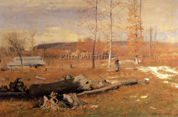 GEORGE INNESS WINTER MORNING MONTCLAIR ARTIST PAINTING REPRODUCTION HANDMADE OIL