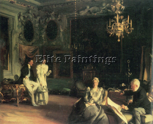 JOHN SINGER SARGENT INTERIOR IN VENICE ARTIST PAINTING REPRODUCTION HANDMADE OIL