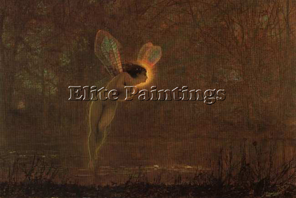 JOHN ATKINSON GRIMSHAW IRIS ARTIST PAINTING REPRODUCTION HANDMADE OIL CANVAS ART