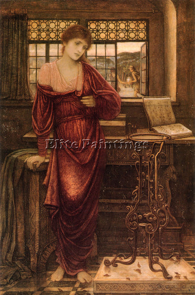 JOHN MELHUISH STRUDWICK ISABELLA AND THE POT OF BASIL ARTIST PAINTING HANDMADE