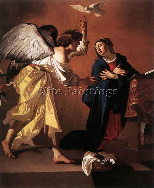 BELGIAN JANSSENS JAN THE ANNUNCIATION ARTIST PAINTING REPRODUCTION HANDMADE OIL