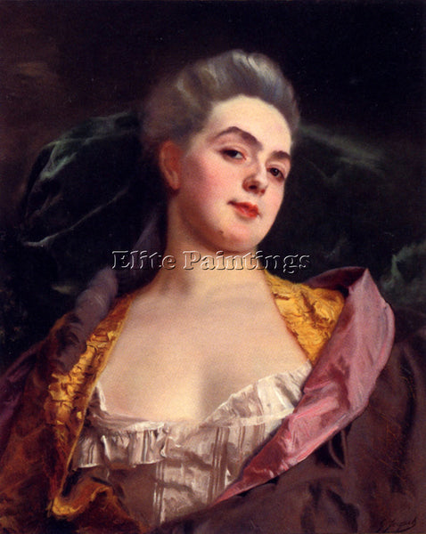 GUSTAVE JEAN JACQUET PORTRAIT OF ARTIST PAINTING REPRODUCTION HANDMADE OIL REPRO