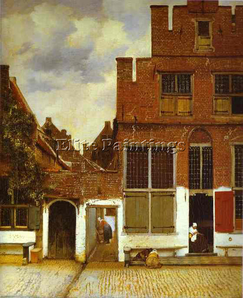 JAN VERMEER STREET IN DELFI ARTIST PAINTING REPRODUCTION HANDMADE OIL CANVAS ART