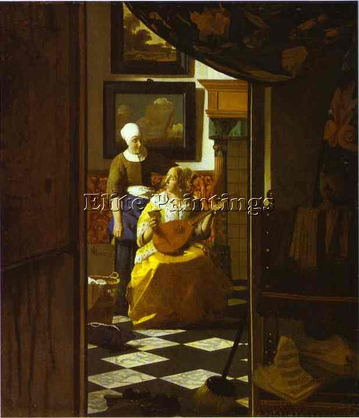 JAN VERMEER THE LOVE LETTER ARTIST PAINTING REPRODUCTION HANDMADE OIL CANVAS ART