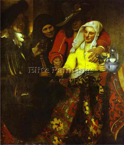 JAN VERMEER THE PROCURESS ARTIST PAINTING REPRODUCTION HANDMADE OIL CANVAS REPRO