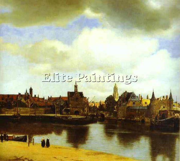 JAN VERMEER VIEW OF DELFI ARTIST PAINTING REPRODUCTION HANDMADE OIL CANVAS REPRO
