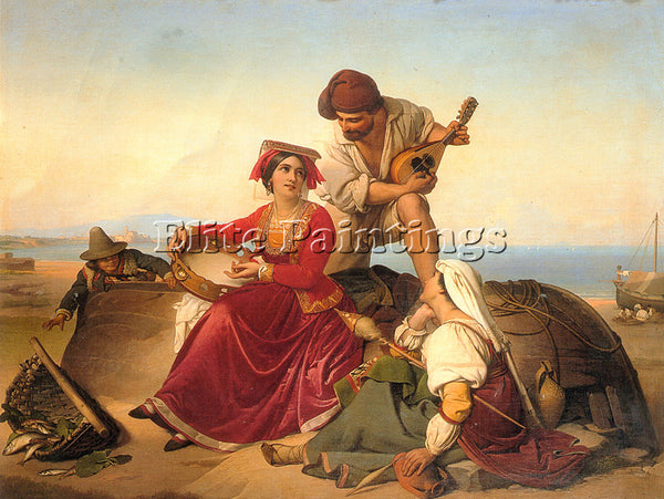 BELGIAN JAN BAPTIST LODEWYCK MAES THE MUSICIANS ARTIST PAINTING REPRODUCTION OIL