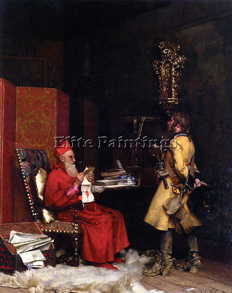 JEHAN GEORGES VIBERT UN SECRET D ETAT 1875 PRIVATE COLLECTION PAINTING HANDMADE