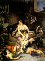 FRENCH JOASH SAVED FROM THE MASSACRE ROYAL FAMILY HENRI LEOPOLD LEVY OIL CANVAS