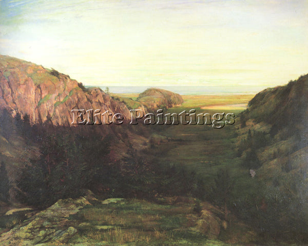 JOHN LAFARGE THE LAST VALLEY ARTIST PAINTING REPRODUCTION HANDMADE CANVAS REPRO