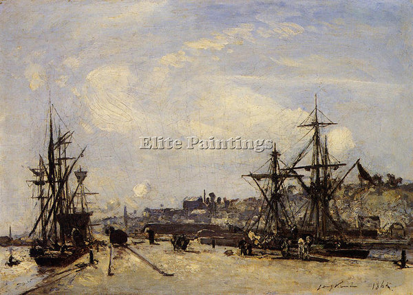 JOHAN BARTHOLD JONGKIND HONFLEUR THE RAILROAD DOCK ARTIST PAINTING REPRODUCTION