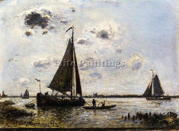 JOHAN BARTHOLD JONGKIND NEAR DORDRECHT ARTIST PAINTING REPRODUCTION HANDMADE OIL
