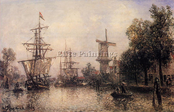 JOHAN BARTHOLD JONGKIND THE PORT OF ROTTERDAM2 ARTIST PAINTING REPRODUCTION OIL