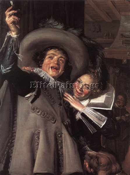 FRANS HALS JONKER RAMP AND HIS SWEETHEART ARTIST PAINTING REPRODUCTION HANDMADE