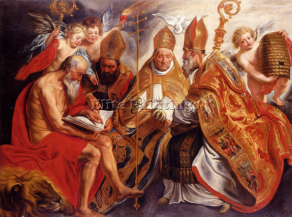 JACOB JORDAENS THE FOUR FATHERS OF THE LATIN CHURCH ARTIST PAINTING REPRODUCTION