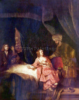 REMBRANDT JOSEPH IS ACCUSED BY POTIPHARS WOMAN ARTIST PAINTING REPRODUCTION OIL