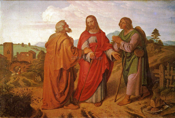 CZECH JOSEPH VON FUHRICH THE ROAD TO EMMAUS APPEARANCE ARTIST PAINTING HANDMADE