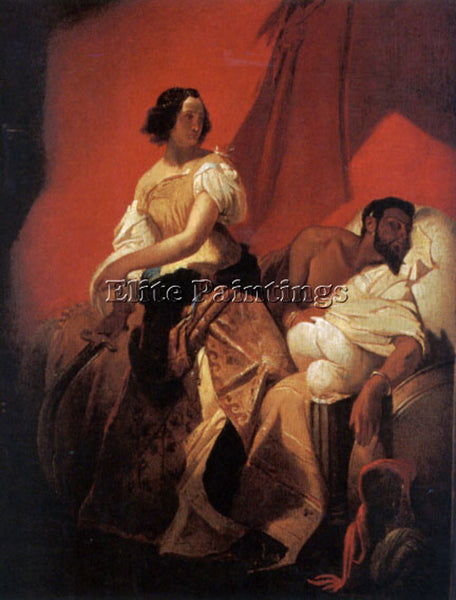 HORACE VERNET JUDITH AND HOLOFERNES ARTIST PAINTING REPRODUCTION HANDMADE OIL
