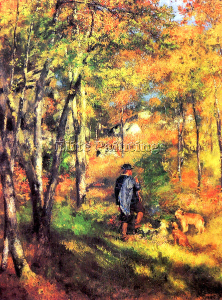 RENOIR JULES LE COEUR AND HIS DOGS ARTIST PAINTING REPRODUCTION HANDMADE OIL ART